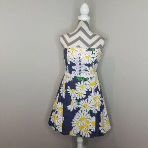 Lilly Pulitzer Del Mar Daisy Print Bubble Dress
